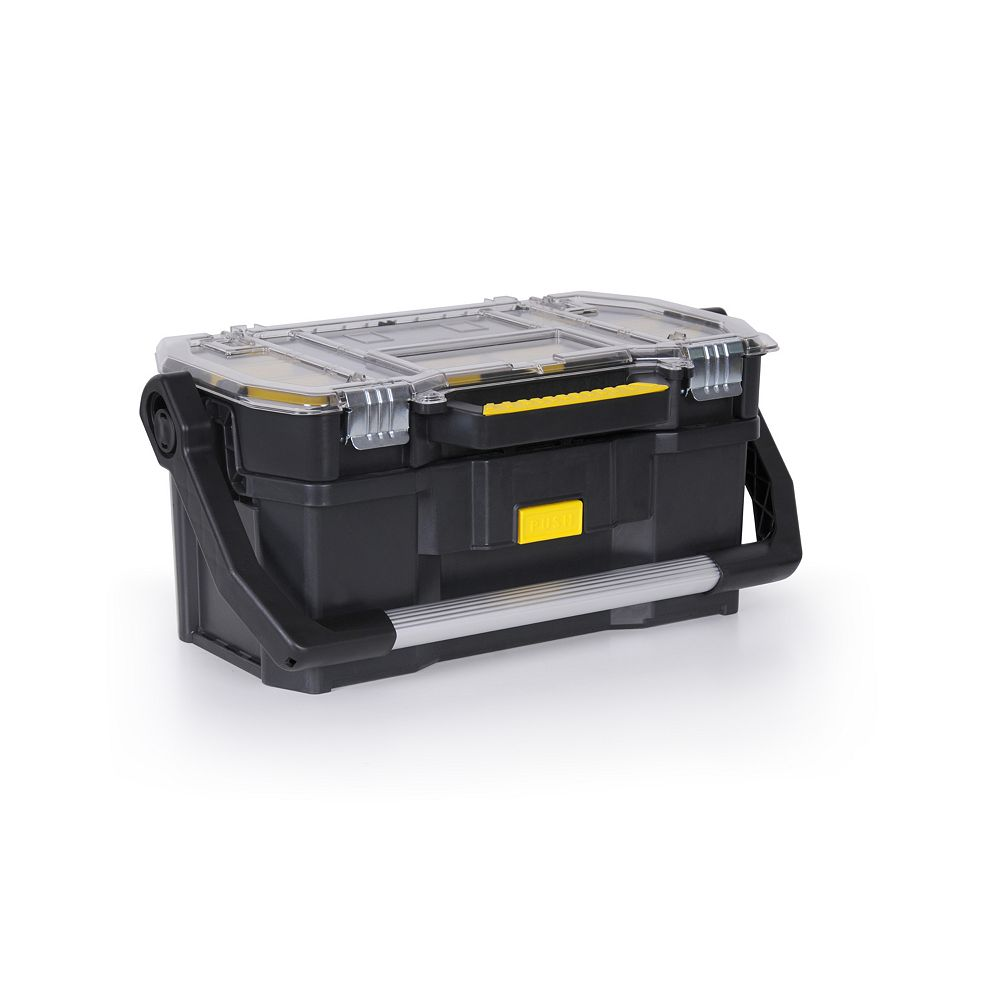 STANLEY 19-inch Tote Box with Organizer Top