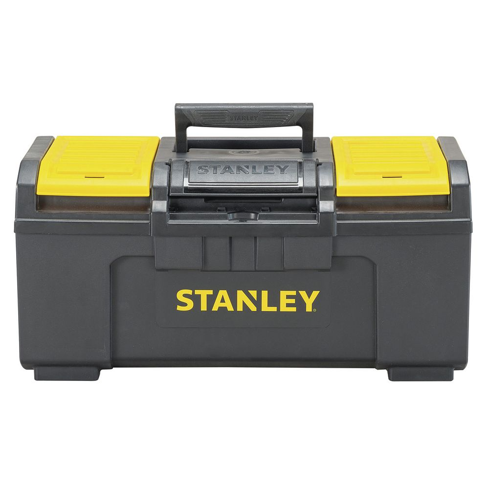 STANLEY 19-inch 1-Touch Latch Tool Box with Lid Organizers