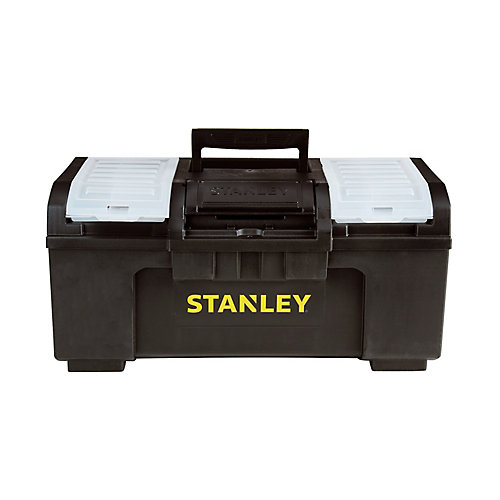 19-inch 1-Touch Latch Tool Box with Removable Lid Organizers