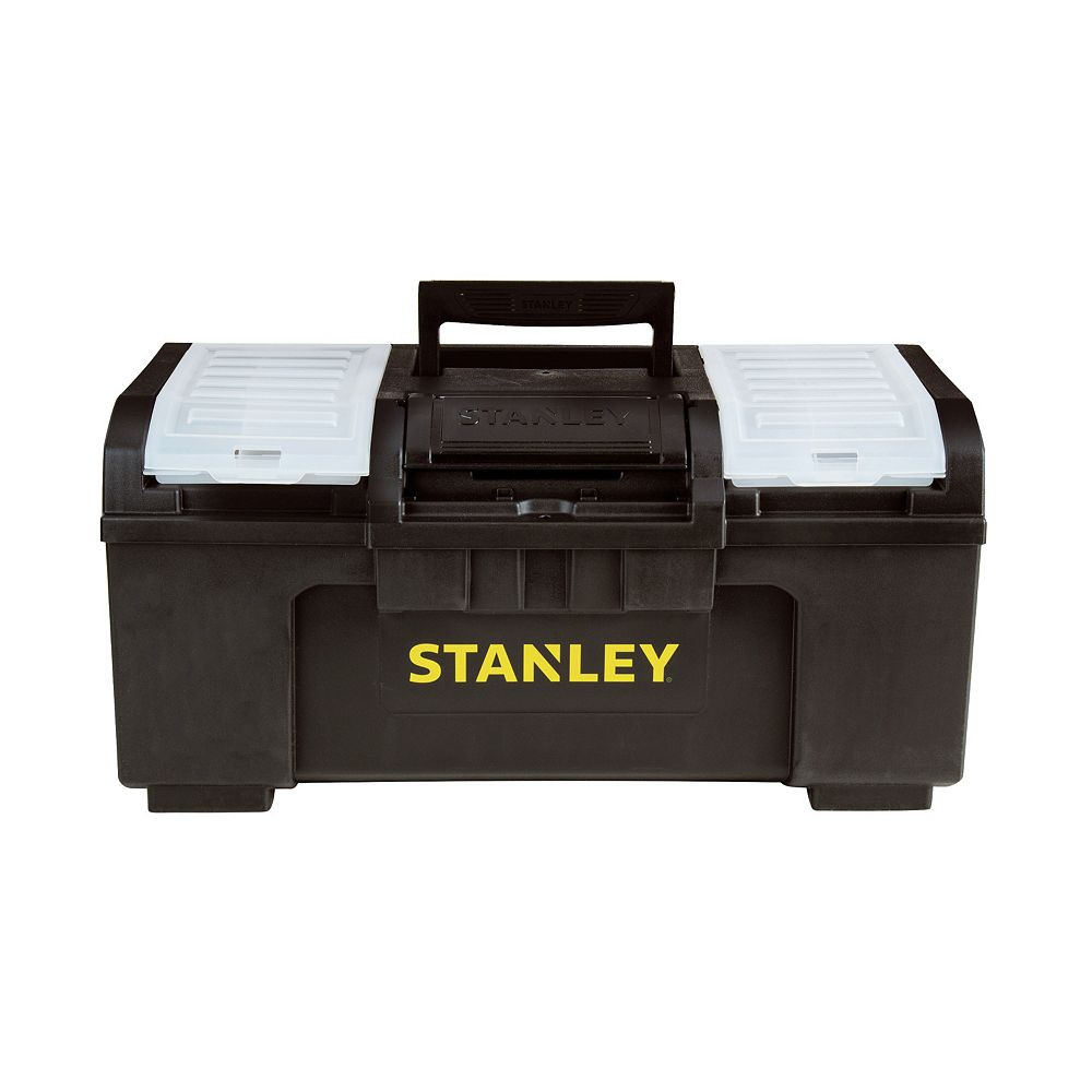 STANLEY 19-inch 1-Touch Latch Tool Box with Removable Lid Organizers