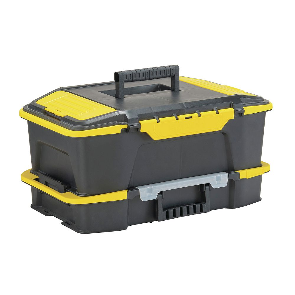 STANLEY Click 'N Connect 20-inch 2-in-1 Deep 1-Touch Latch Tool Box and Organizer