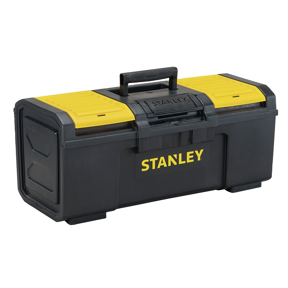 STANLEY 24-inch 1-Touch Latch Tool Box with Lid Organizers