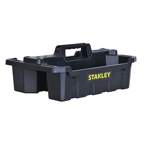 2-Compartment Storage Tote Tray and Small Parts Organizer