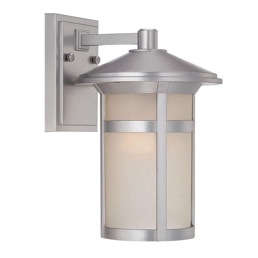 Acclaim Phoenix Luminaire applique mural extérieur à 1 ampoule en fini argent brossé