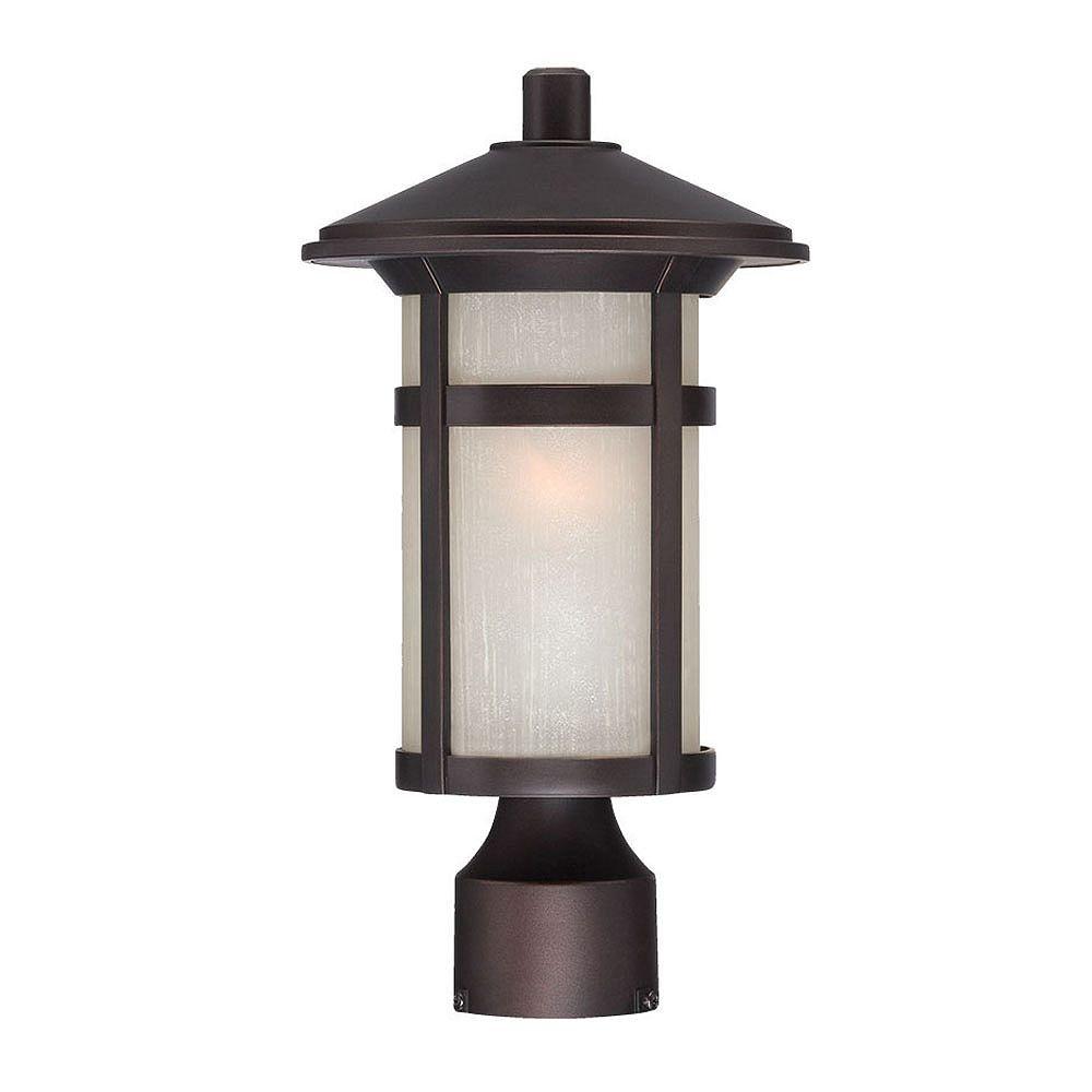 Acclaim Phoenix Marble-X  Lanterne de Poteau extérieur à 1 ampoule en fini bronze architectural