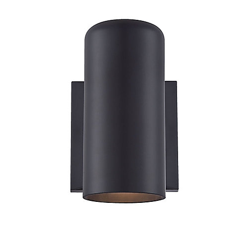 MarbleX 1-Light PAR20 Outdoor Wall Sconce in Matte Black