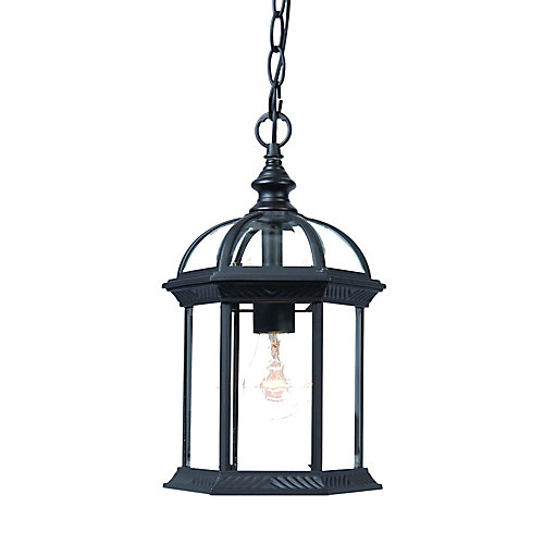 Dover Collection Hanging Lantern 1-Light Outdoor in Matte Black