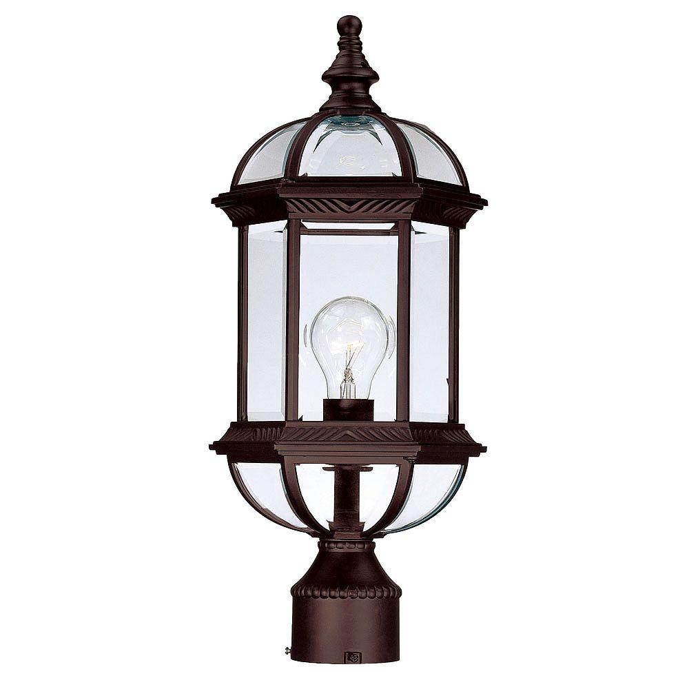 Acclaim Tête de Lanterne de Poteau extérieur 1 ampoule en fini ronce de noyer -Dover