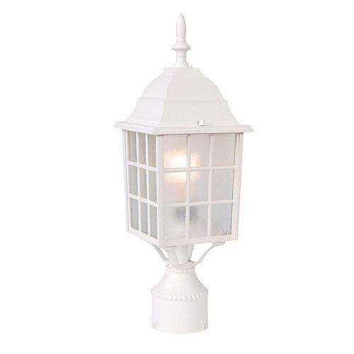 Nautica Lanterne de Poteau extérieur à 1 ampoule en fini blanc texturé