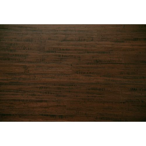 GUOYA Handscraped Strand Woven Weathered Umber 1/2-in x 5-1/8-in x 72-in Engineered Bamboo Flooring (25.75 sq.ft/case)