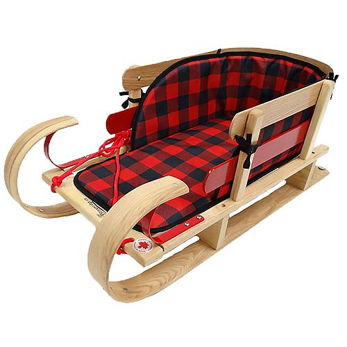 Grizzly Kinder Sleigh w/plaid pad - boxed