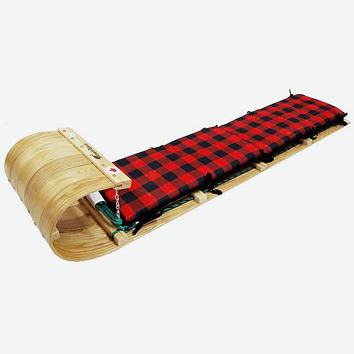 Frontier 5 ft. Toboggan w/plaid pad - boxed