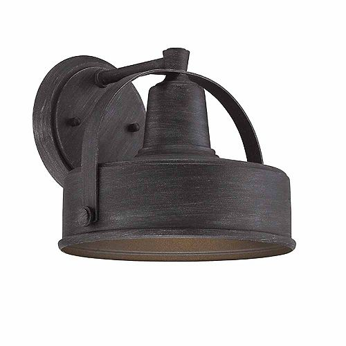 8-inch 1-Light Incandescent Weather-Pewter Wall Lantern