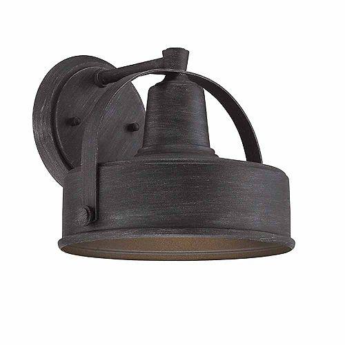 Lanterne murale à 8 pouce lampe à incandescence, fini étain vieilli