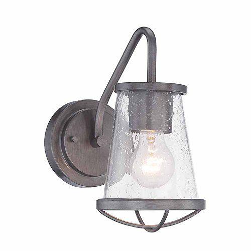 Designers Fountain Luminaire de salle de bain à 1 lampe à incandescence, fini fer vieilli