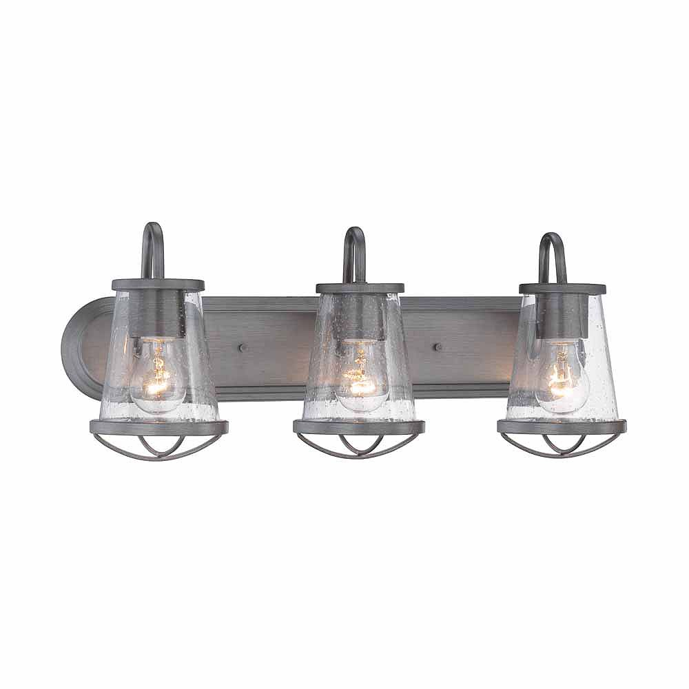 Designers Fountain 3-Light Weathered-iron Incandescent Bath Light