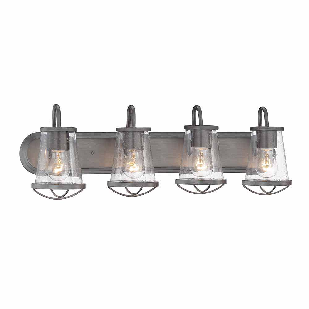 Designers Fountain 4-Light Incandescent Bath Vanity Light Fixture in Weathered Iron