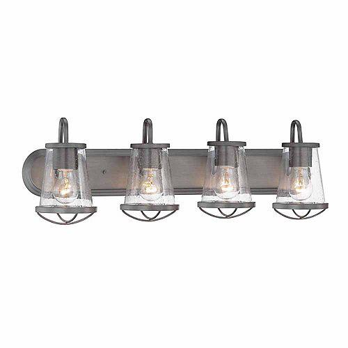 4-Light Incandescent Bath Vanity Light Fixture in Weathered Iron