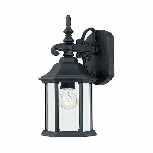 Lanterne murale à 14.25 pouce lampe à incandescence, fini noir