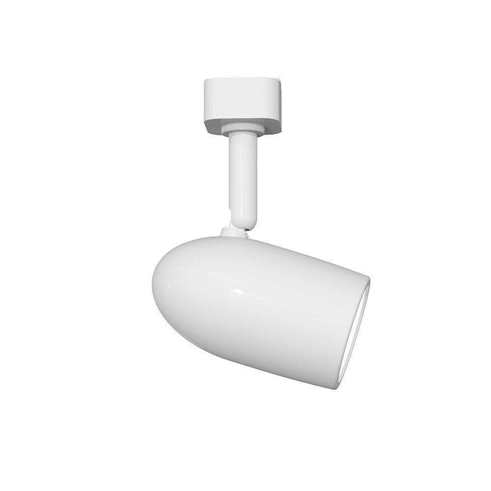 Hampton Bay Tête d'éclairage sur rail linéaire à mini-spot LED intégrée à 1 lumière blanche
