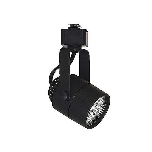 Tête d'éclairage linéaire sur rail cylindrique à 1 trou GU10-16 à lumière unique