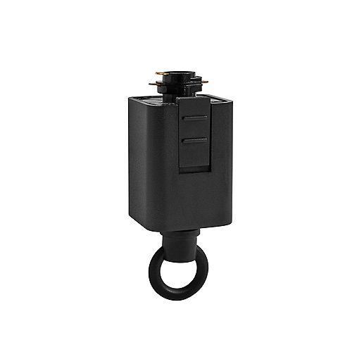Hampton Bay 120-Volt 150-Watt Black Linear Track Pendant or Chandelier Adapter