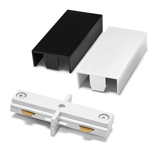Coupleur linéaire piste à piste 2400 watts avec couvercles blanc et noir