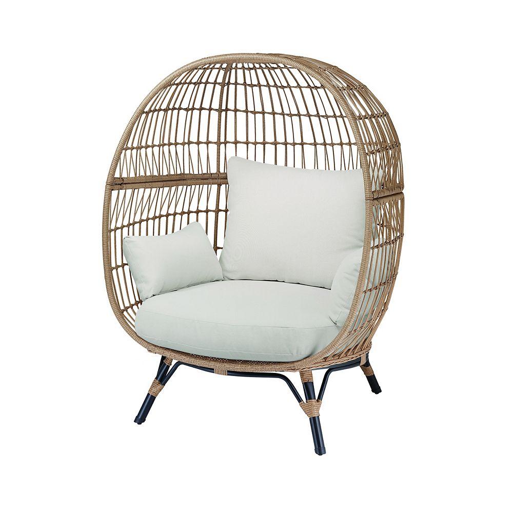 Hampton Bay Cayman Woven Egg Patio Chair