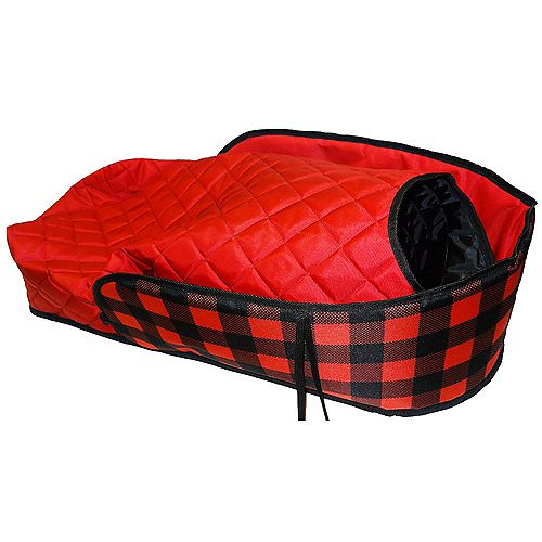 Plaid Sleigh Pad with Bootie - mail pkg (bulk)