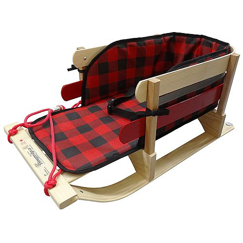 Grizzly Sleigh w/glowing plaid pad - boxed