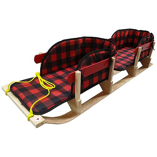 Traditional Double Up Sleigh with plaid pads - boxed