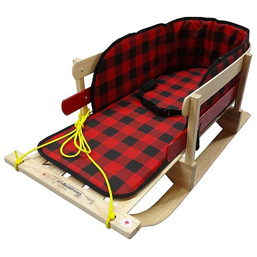 Traditional XL Sleigh w/belted plaid pad - boxed