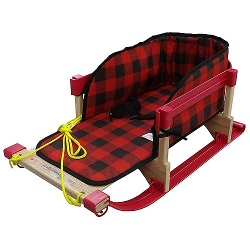 Alpine Slasher Sleigh w/belted plaid pad - boxed