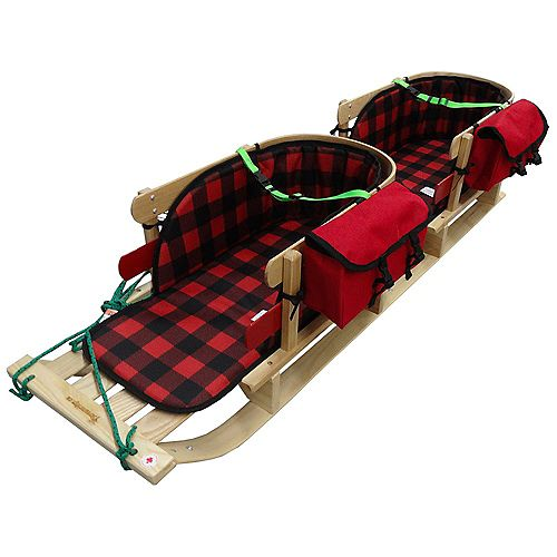 Streamridge Frontier Twin Sleigh w/plaid pad,support strap,pouch - boxed
