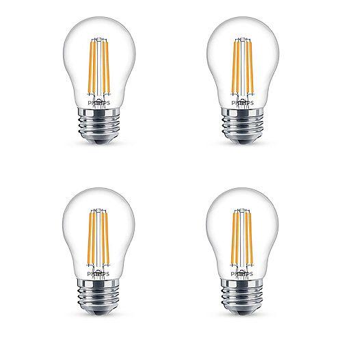 Philips 40W Equivalent Soft White (2700K) A15 Medium Base LED Light Bulb (4-Pack)