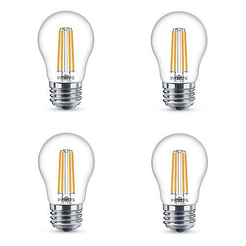 Philips Ampoule DEL à culot moyen A15, équivalence de 40 W, 5 000 K, lumière naturelle, ens. de 4