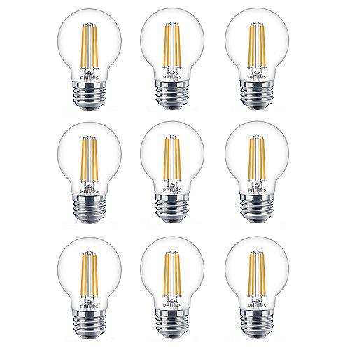 40W Equivalent Soft White Glass (2700K) G16.5 Globe Medium Base LED Light Bulb (9-Pack)