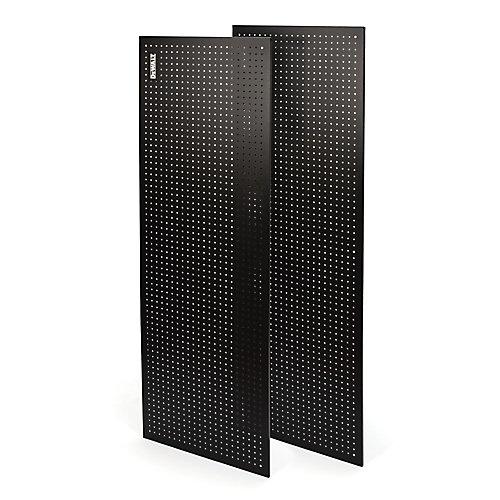 71-inch H x 24-inch W 2-Piece Steel Pegboard Kit for 72-inch DeWALT Industrial Storage Rack in Black