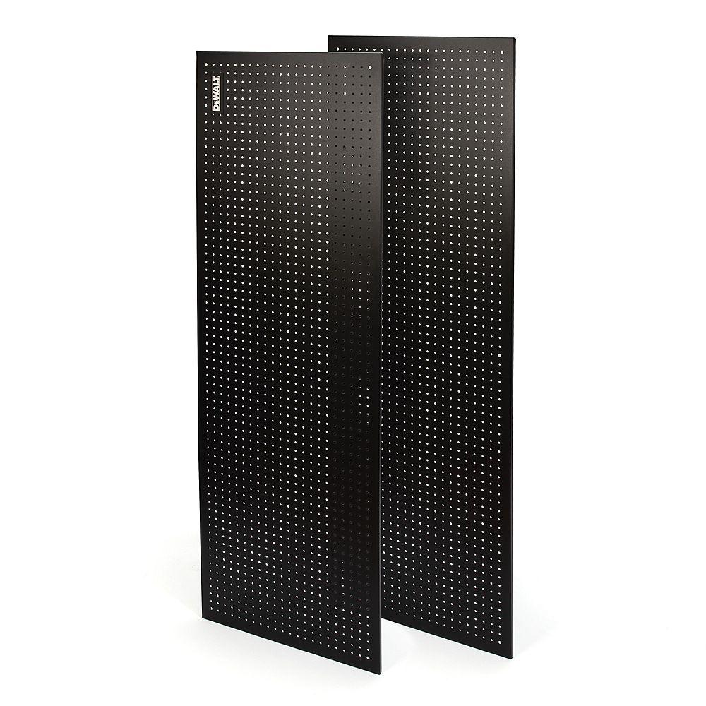 DEWALT Panneau perforé  acier 2 mcx  71 po H X 24 po L p râtelier rangement industriel DeWalt  72 po noir