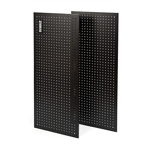 47-inch H x 18-inch W 2-Piece Steel Pegboard Kit for 48-inch DeWALT Industrial Storage Rack in Black