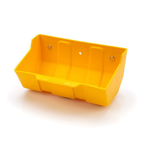 4-inch H x 7-inch W x  5-inch D Magnetic Parts Bucket / Tray in Yellow