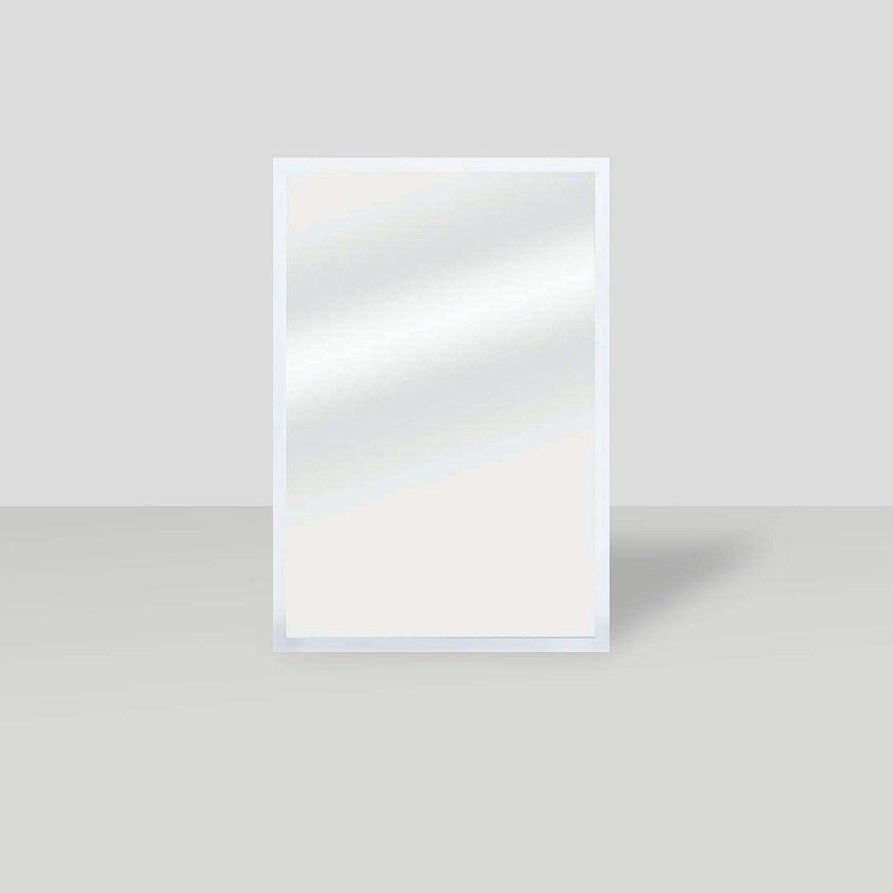 The Tangerine Mirror Company La vanité bord, Miroir blanc satiné, 25.5 po x 37.5 po