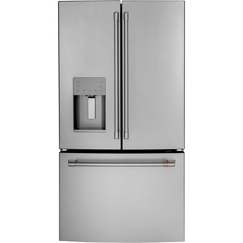36-inch W 25.6 cu. ft. French-Door Refrigerator in Stainless Steel