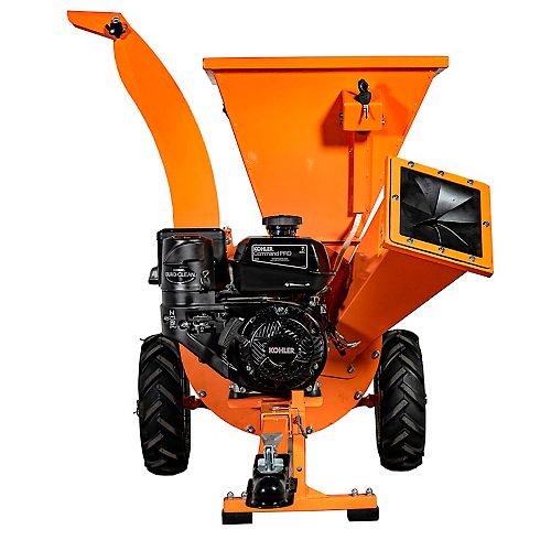 DK2 Power Kohler 7 HP Engine 3-inch Cyclonic Chipper Shredder with 3-Year Commercial Warranty