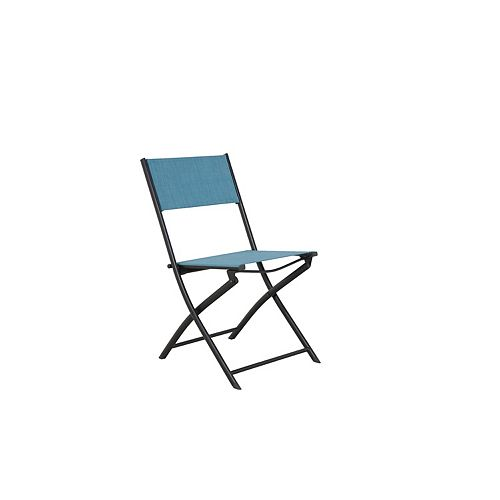 Hampton Bay Steel Sling Folding Patio Chair in Teal