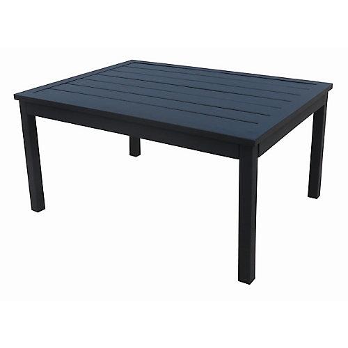 Riley Steel Outdoor Patio Coffee Table in Black
