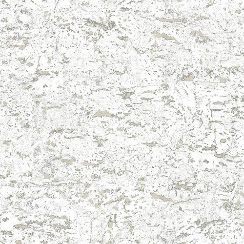 Faux Cork White Papier Peint Auto-Adhesif