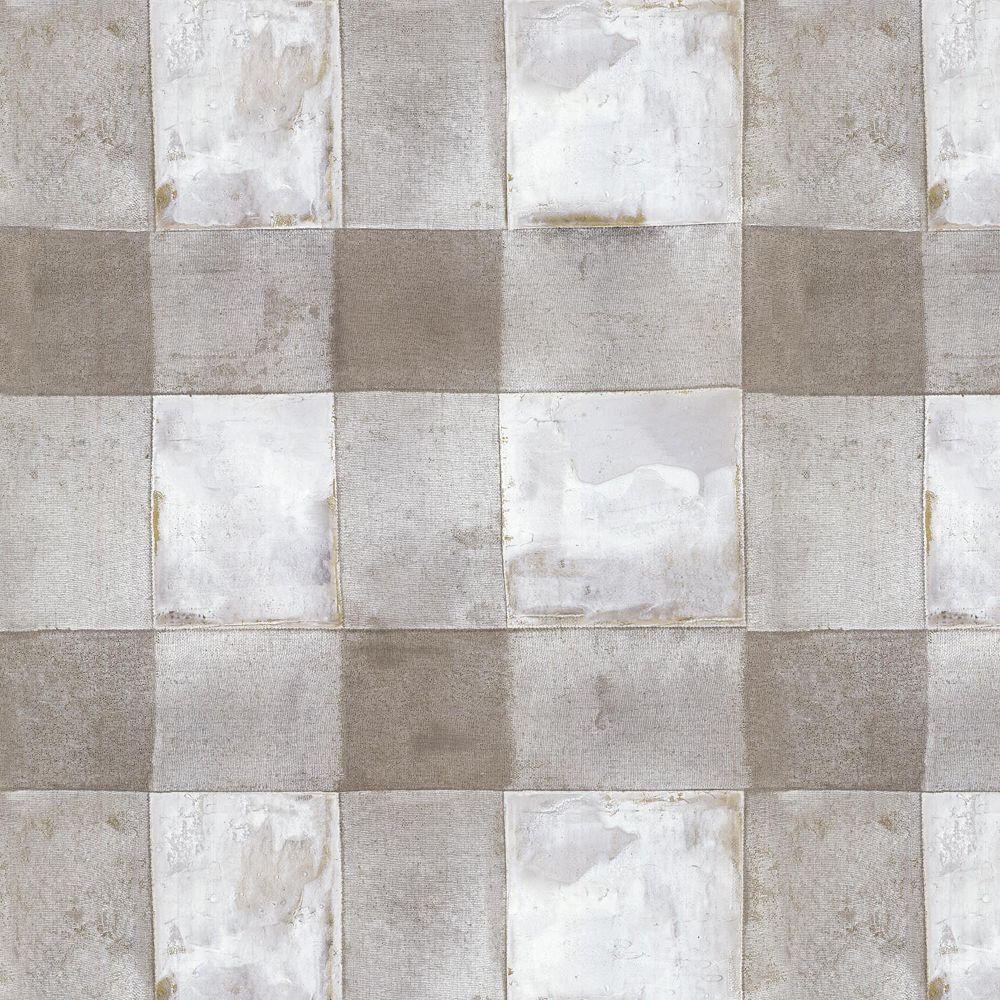 RoomMates Buffalo Plaid TaupePapier Peint Auto-Adhesif