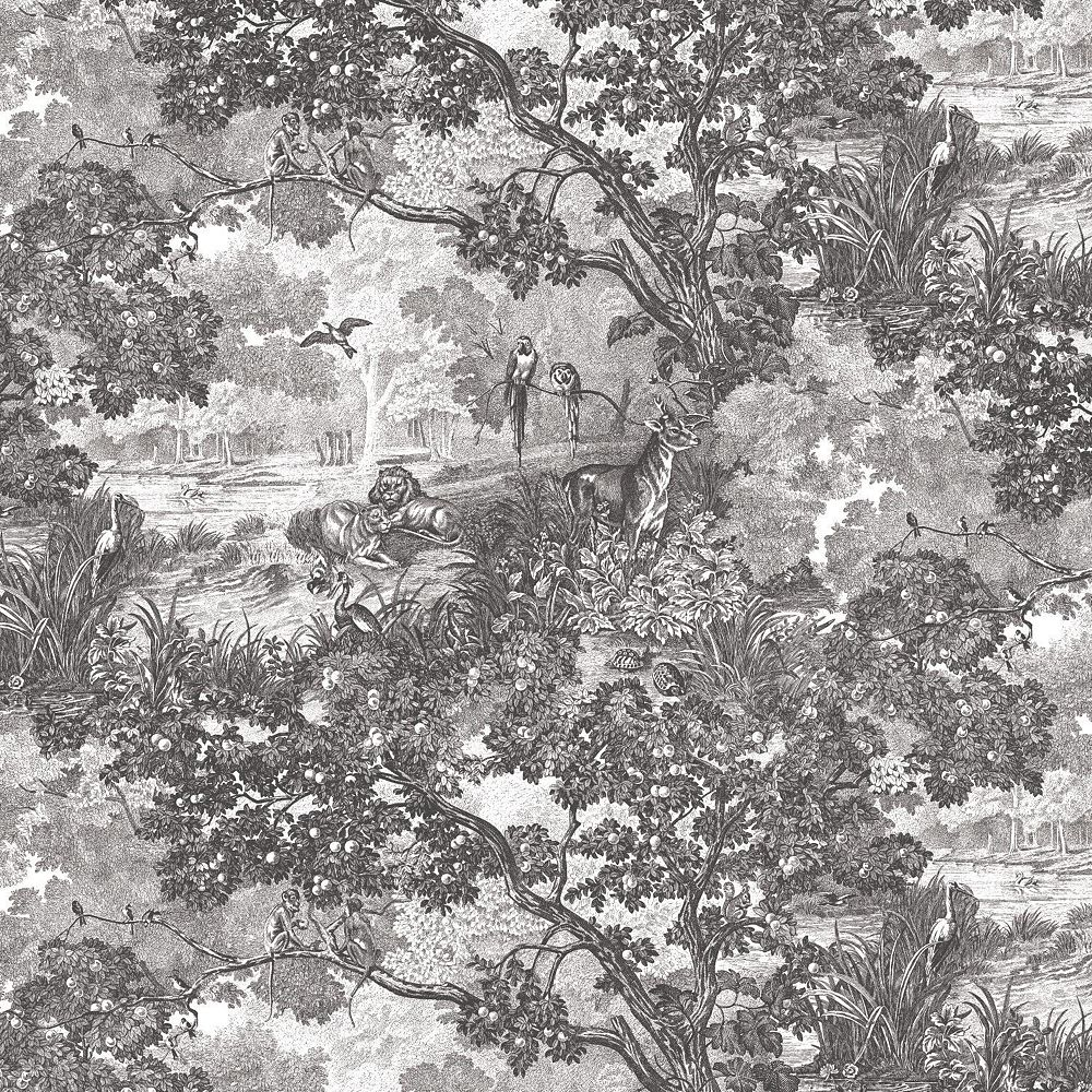 RoomMates Jungle Toile Peel & Stick Wallpaper