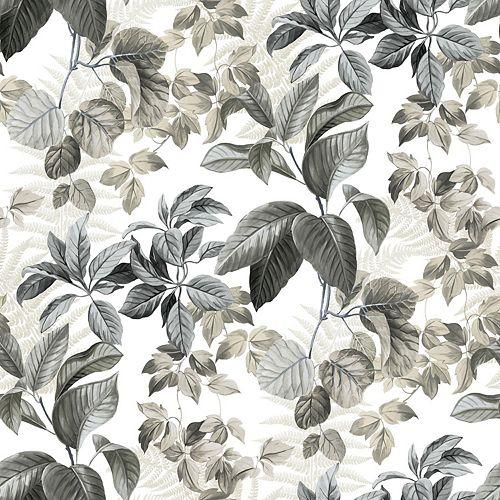 Neutral Rainforest Leaves Papier Peint Auto-Adhesif